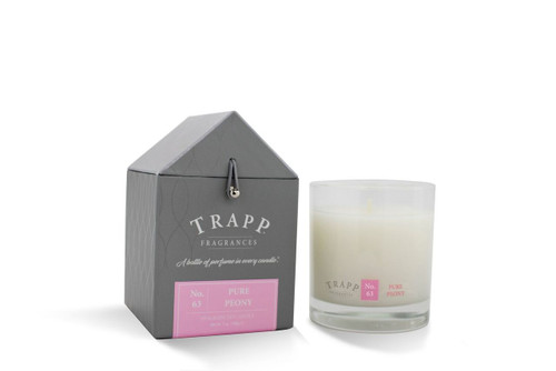 No. 63 Trapp Candle Pure Peony - 7oz. Poured Candle