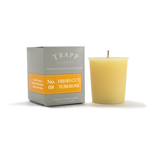 No. 8 Trapp Candle Fresh Cut Tuberose - 2oz. Votive Candle