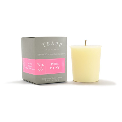 No. 63 Trapp Candle Pure Peony - 2oz. Votive Candle