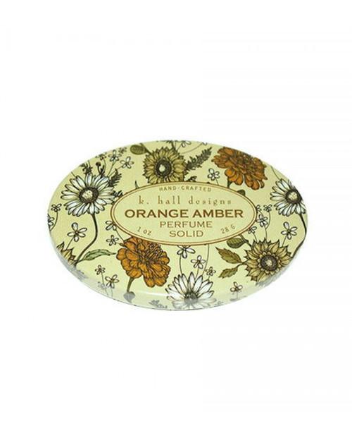 K. Hall Designs Orange Amber Printed Solid Perfume