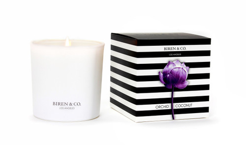 Biren & Co. Orchid Coconut Boxed Candle Tulip Collection