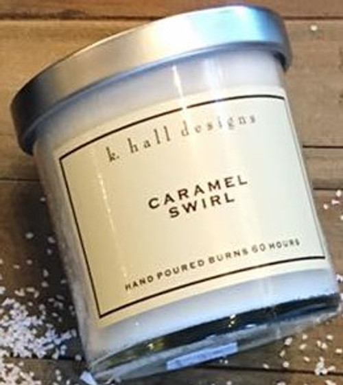 K. Hall Designs Caramel Swirl Jar Candle Holiday