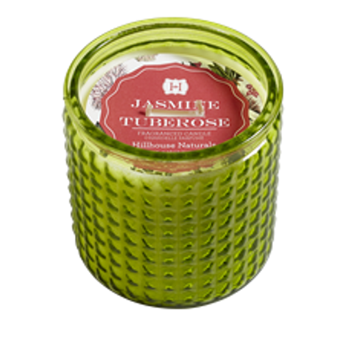 Hillhouse Naturals Jasmine Tuberose 2-Wick Colored Glass Candle