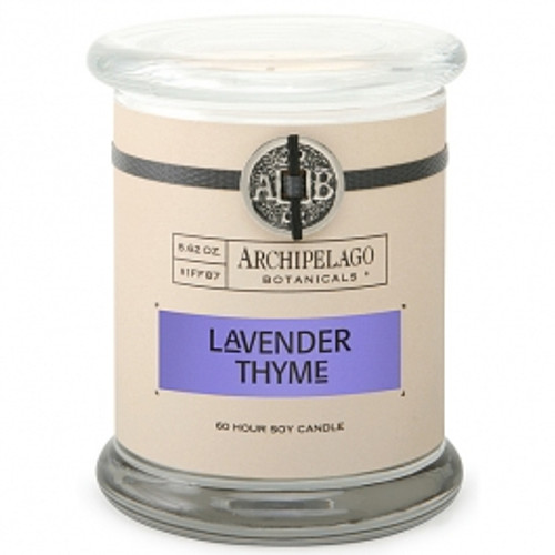 Archipelago Signature Collection Lavender Thyme Glass Jar Candle