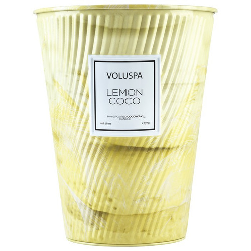 Voluspa Macaron Collection Lemon Coco 2-Wick Tin Table Candle