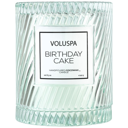 Voluspa Macaron Collection Birthday Cake Icon Cloche Cover Glass Candle