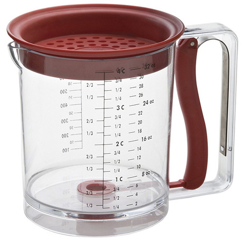 Easy Release Fat & Gravy Separator - Red, 4 Cup