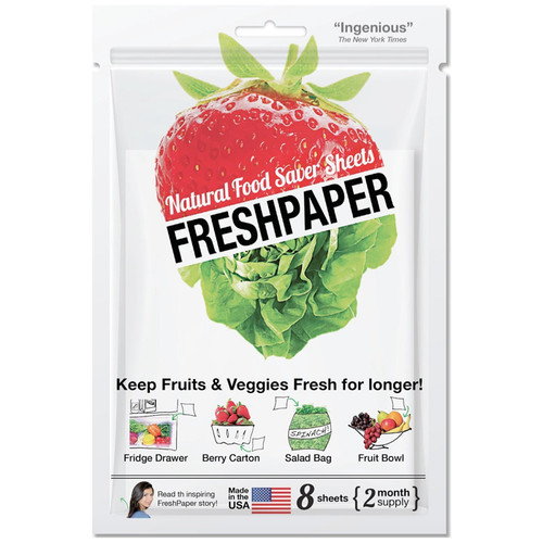 FreshPaper Produce Saver Sheets, Pack of 8