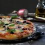 Pizza Set - Stone + Peel Fusain, 2 Piece