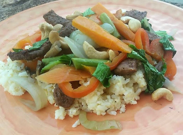 Chicken or Beef Stir Fry with Cashew Nuts