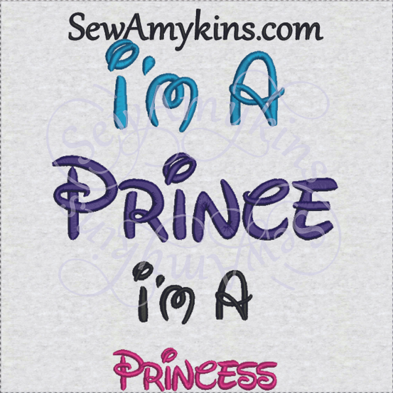 i m a prince disney font princess digitized embroidery designs in 2