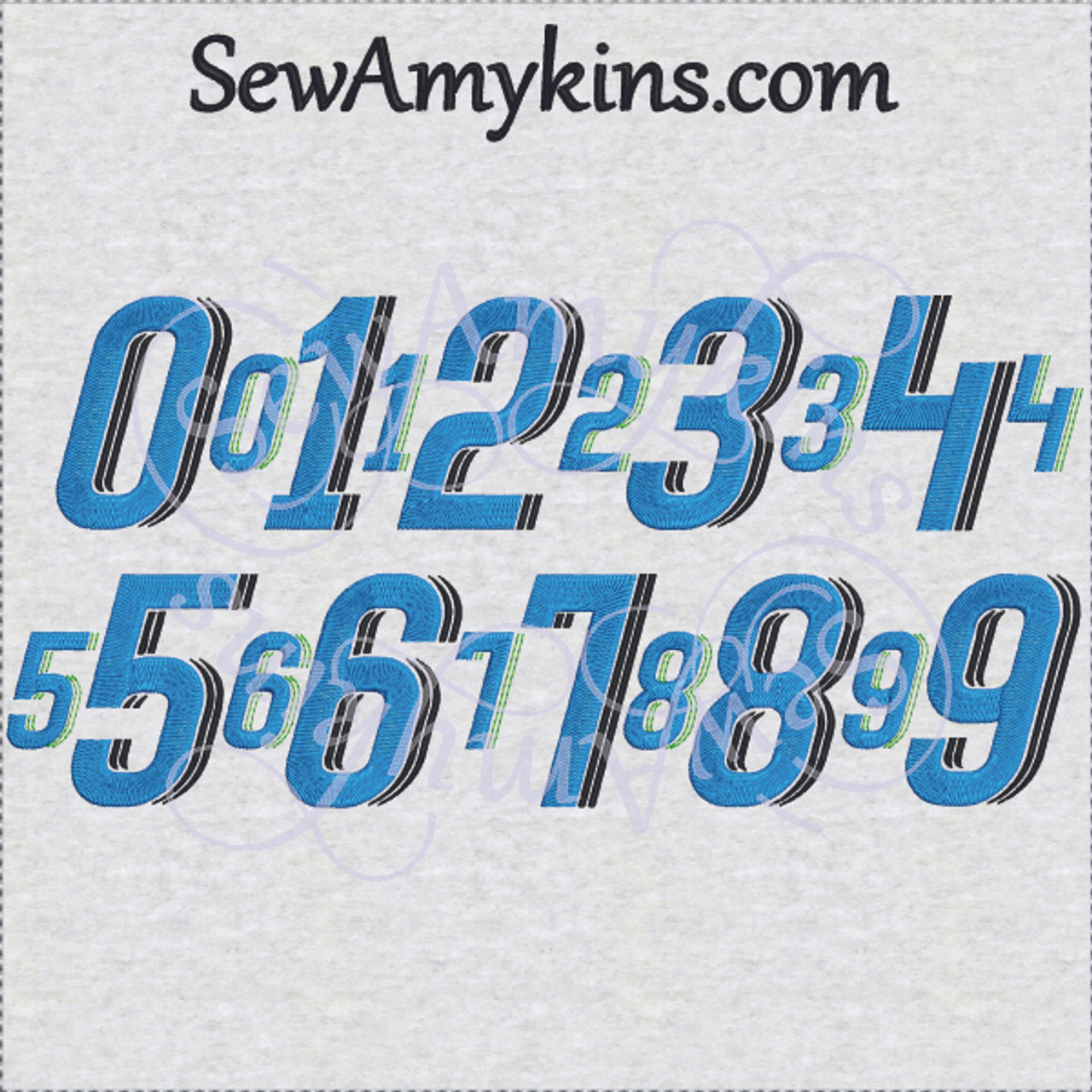 speed racing numbers machine embroidery design number 2 sizes racing