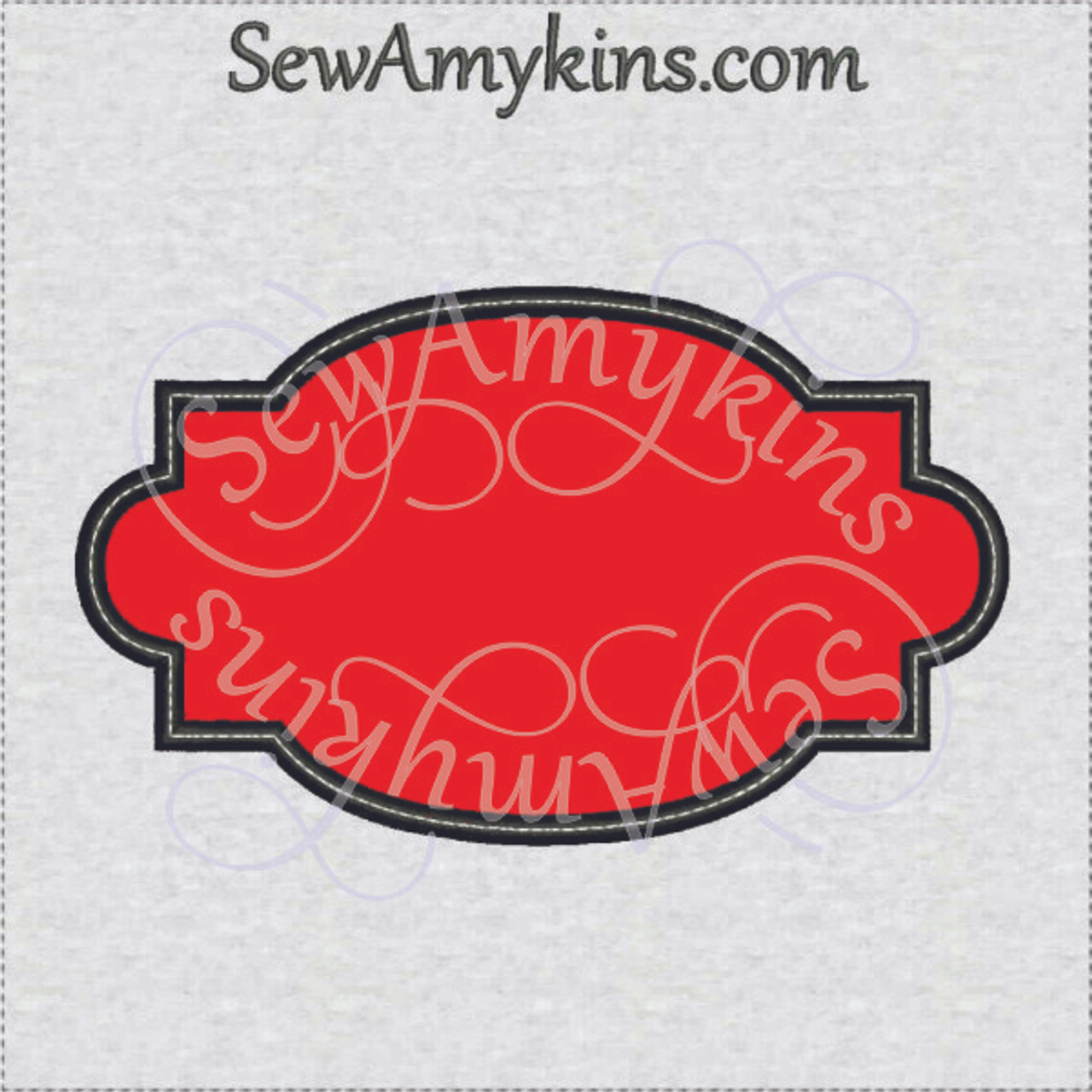 Fancy Frame Border 1 Applique Embroidery Design Digitized Set Of 4