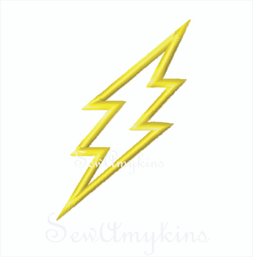 Lightning Applique Flash Gordon Plain Bolt