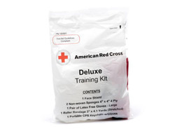 First Aid and CPR Training Student Kit with CPR Keychain, Face Shield and Gloves