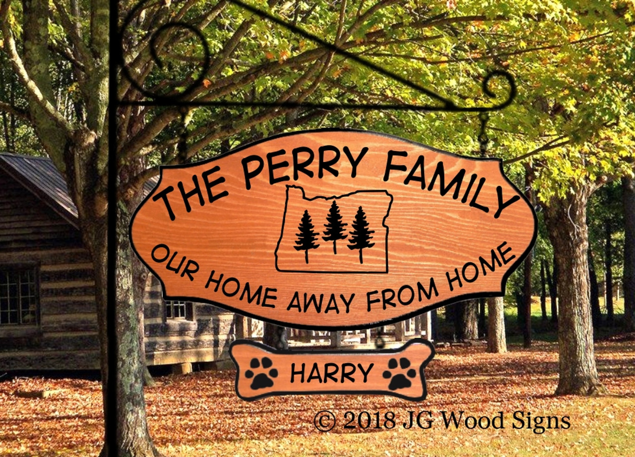Personalized Camp Signs W Pine Trees In This Customized Camping Sign