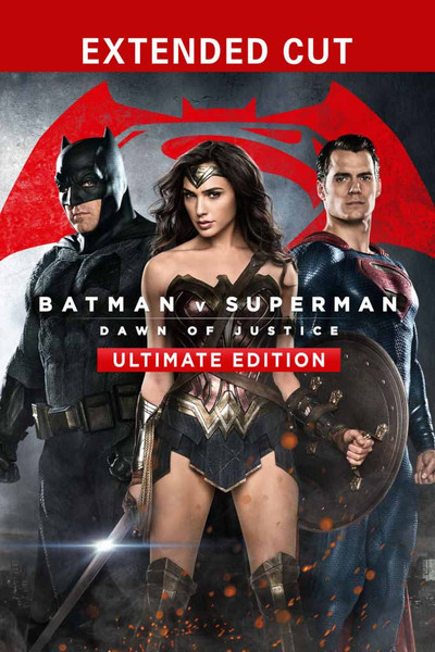 Batman v Superman:  Dawn of Justice Ultimate Edition [UltraViolet HD or iTunes via Movies Anywhere]