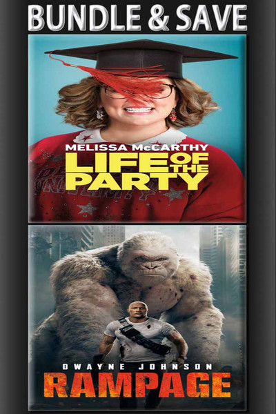 Life Of The Party + Rampage BUNDLE [UltraViolet HD or iTunes via Movies Anywhere]