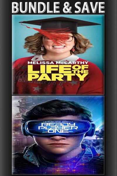 Life Of The Party + Ready Player One BUNDLE [UltraViolet HD or iTunes via Movies Anywhere]