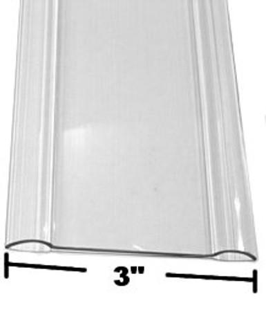 96in X 3in   Clear Lexan (Polycarbonate) Wall Guard (Chair Rail)