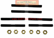 Allis Chalmers Early WC w/ Side Exhaust -  Manifold Stud Set with Brass Nuts - WC001