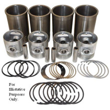 """Pistons Sleeves and Rings Kit 4-1/8"""" overbore 