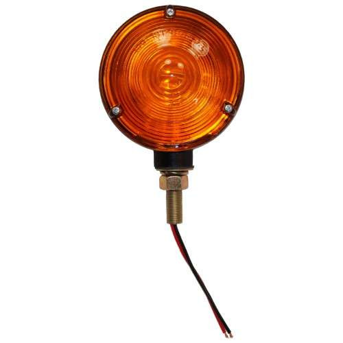 Round Fender and Cab Mount Amber Warning Light