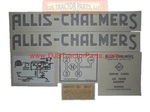Allis Chalmers G 1948-1955, VINYL CUT DECAL SET - DJS116