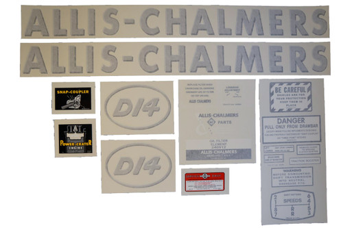 Allis Chalmers D14 Vinyl Decal Set (w/ Oval Letters) - DJS143