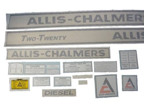 Allis Chalmers 220 Two-Twenty diesel (black on creme) VINYL CUT DECAL SET - DJS163