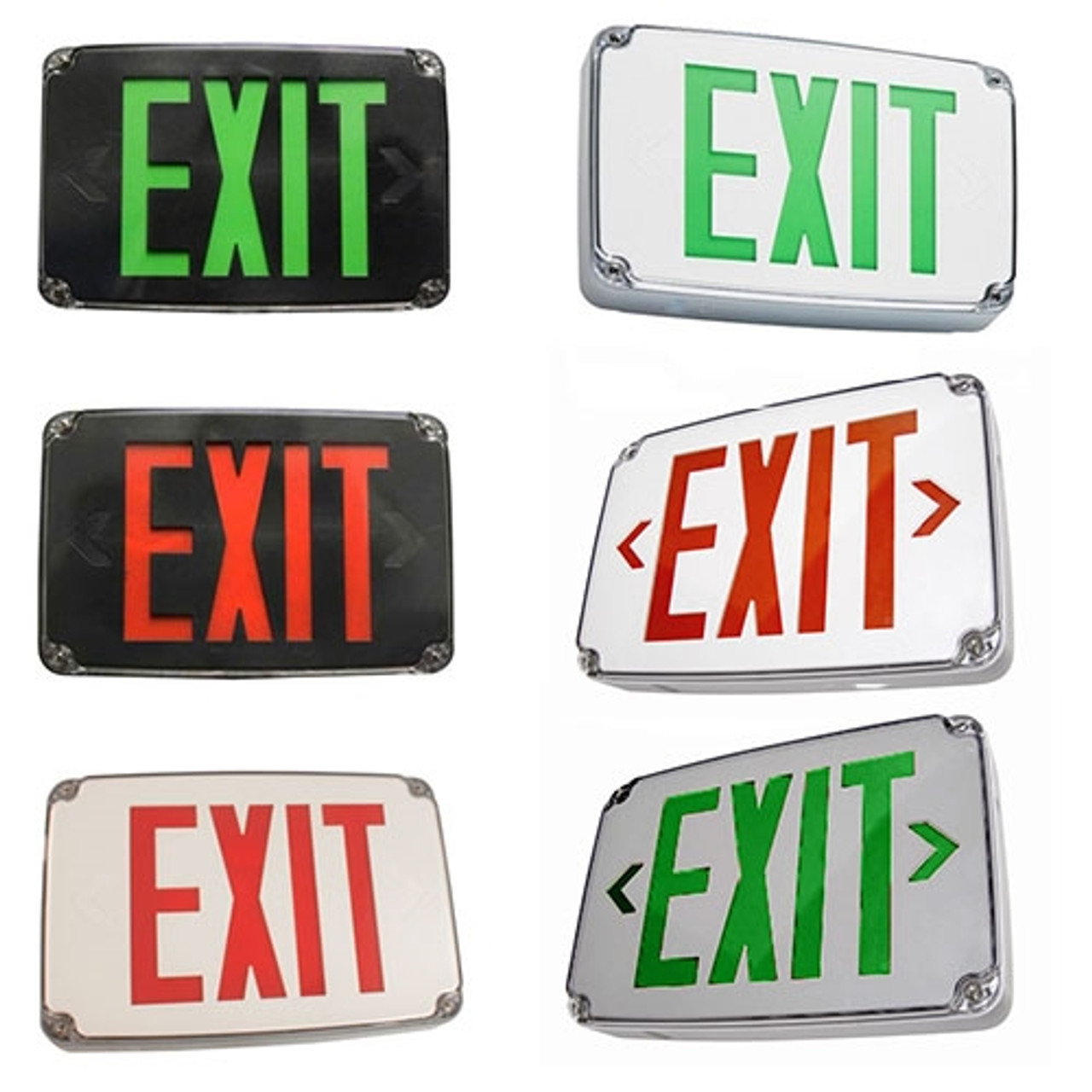 Universal wet location outdoor rated exit sign - Exterior light with battery backup ...