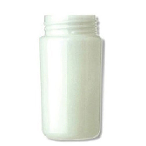 8 Inch Plastic Cylinder Threaded Lip Opening White Acrylic