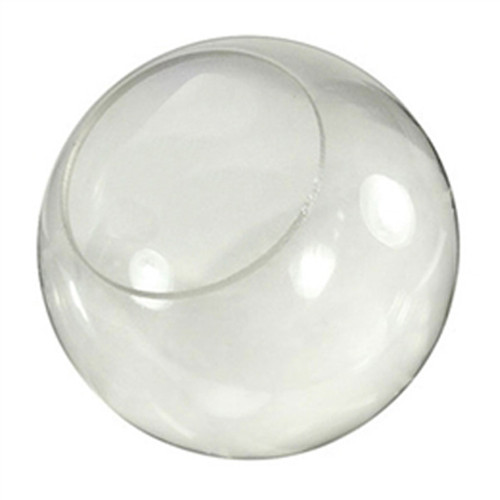 8 Inch Plastic Globe Neckless Opening Clear Acrylic