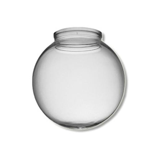 10 Inch Plastic Globe Plain Lip Opening Clear Acrylic