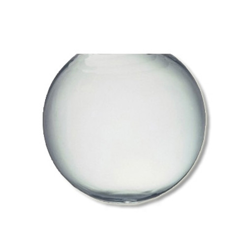 12 Inch Plastic Globe Neckless Opening Clear Acrylic