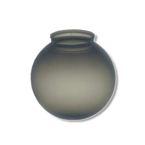10 Inch Plastic Globe Plain Lip Opening Smoke Acrylic