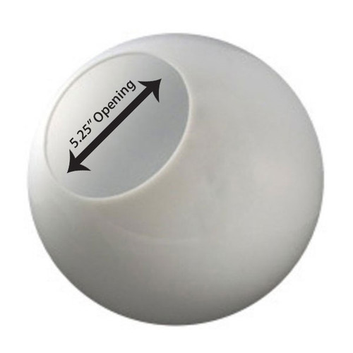 18 Inch Plastic Globe Neckless Opening White Acrylic
