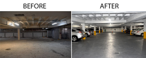 REALLY BRIGHT LED CANOPY LIGHT, PERFECT FOR GARAGES, CARPORTS AND STORAGE AREAS, 45 WATT - 80 Watt