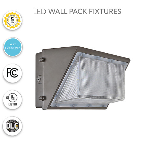 LED Wall Pack Security Light, 65 Watts Replaces 250MH - 8100 Lumens