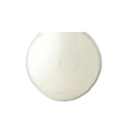 8 Inch Plastic Globe Neckless Opening White Acrylic