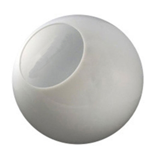 10 Inch Plastic Globe Neckless Opening White Acrylic