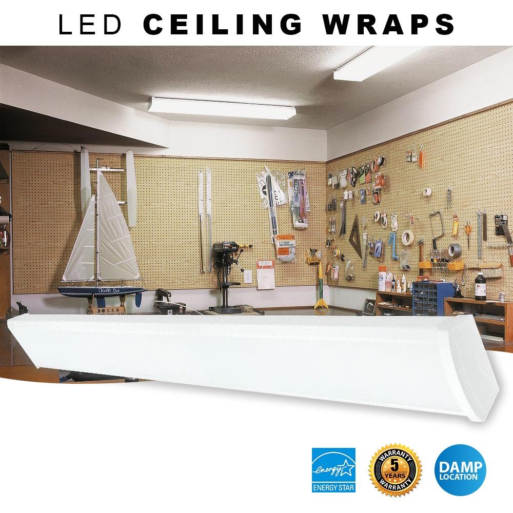 LED Wrap Around Light Fixture - Choose 3000K or 4000K Color Temperature
