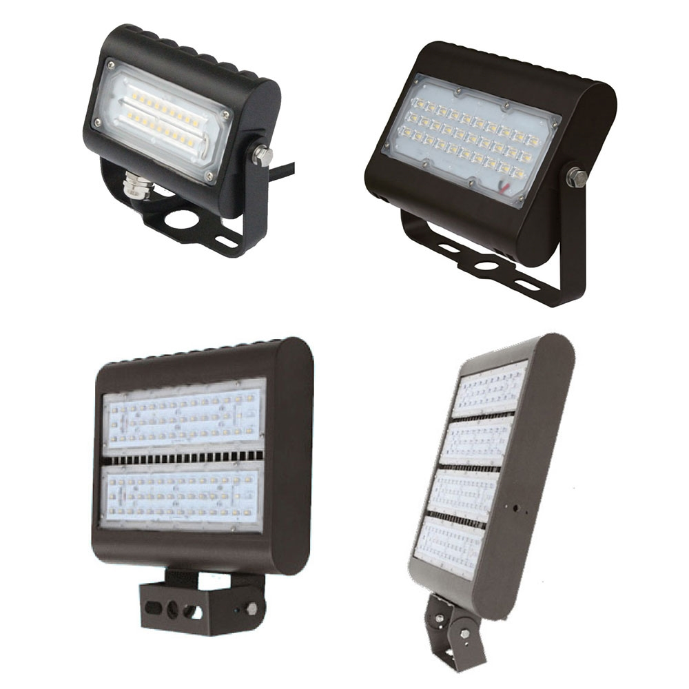 LED Outdoor Flood Lights For Any Application - Choose Your Wattage and Mount