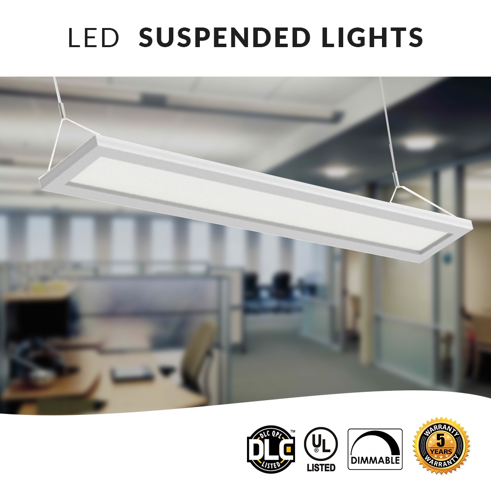 HANGING LED PANEL DIRECT/INDIRECT OFFICE  LIGHT - 4FT 40W