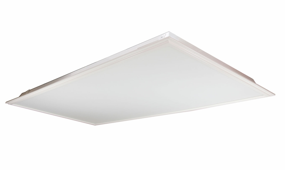 LED Drop Ceiling Flat Panel Light Fixtures - Choose Your Size, Color and Optional Mounting Kit