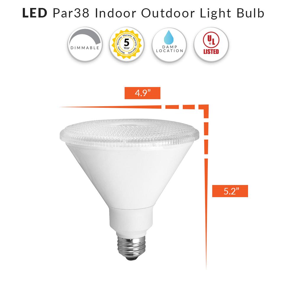 LED PAR38 Outdoor Flood Light - Choose Your Color Temperature