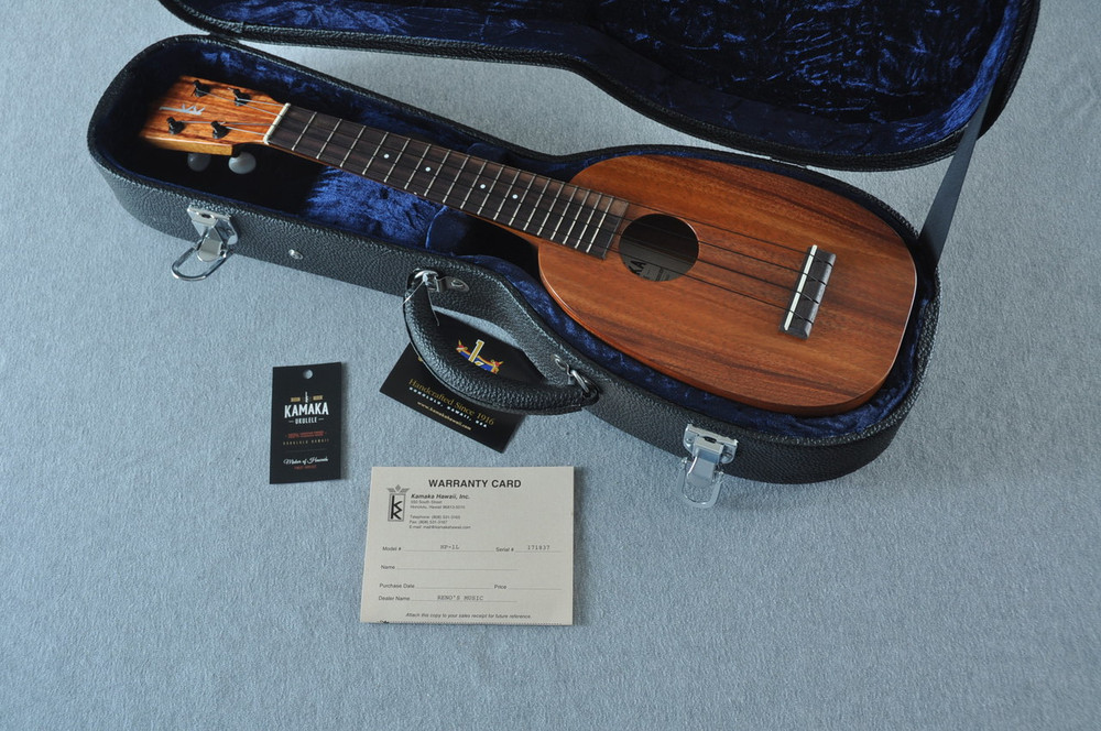Kamaka Long Neck Pineapple Ukulele HP-1L - New 2018 - Made in Hawaii - 171837 - View 2