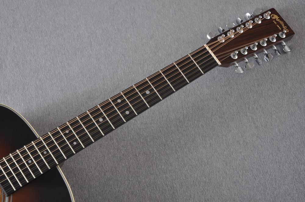Martin Custom Shop D12-28 Adirondack Sunburst 12-String Acoustic Guitar #2166941 - Neck