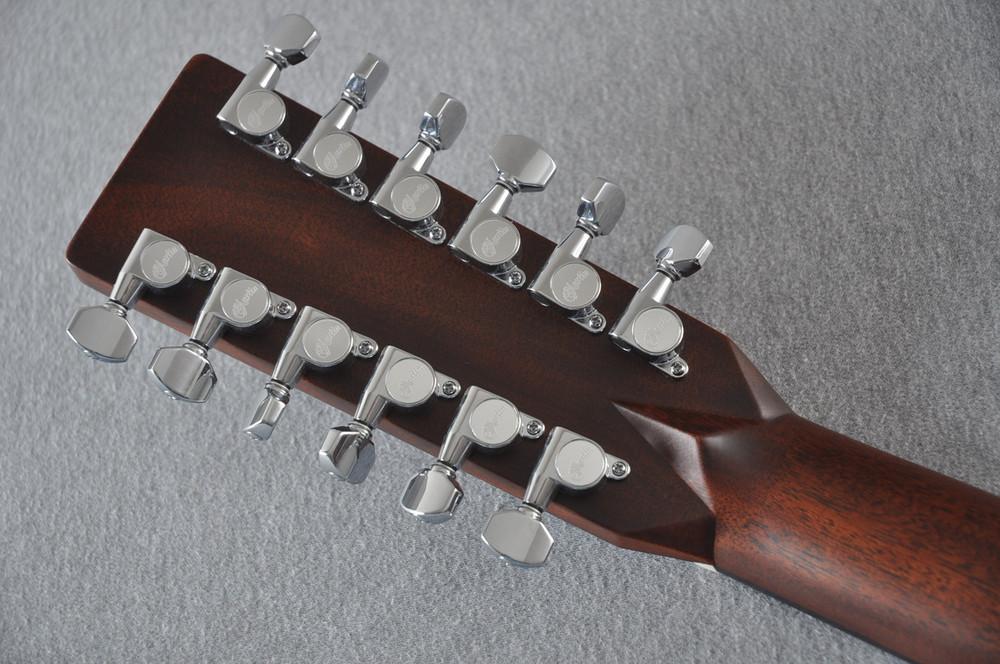 Martin Custom Shop D12-28 Adirondack Sunburst 12-String Acoustic Guitar #2166941 - Back Headstock