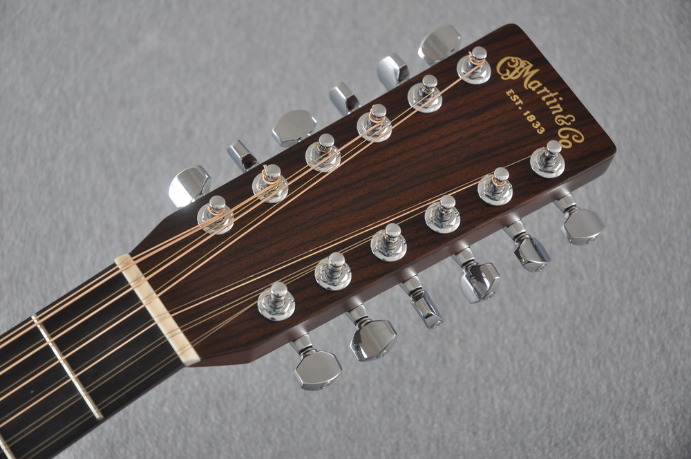 Martin Custom Shop D12-28 Adirondack Sunburst 12-String Acoustic Guitar #2166941 - Headstock